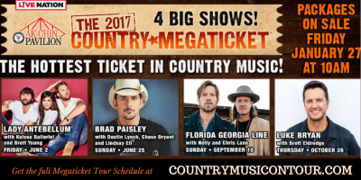 2017 Country Megaticket on Country Music On Tour!