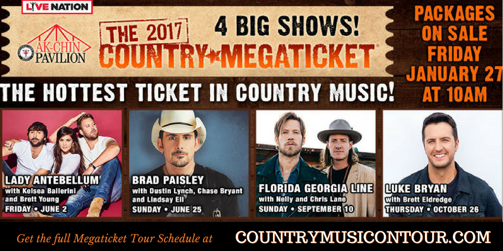 Country Megaticket Concert Tour Tickets