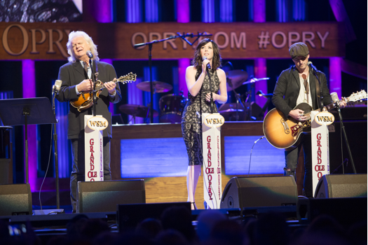 Ricky Skaggs joins Thompson Square on the Opry stage