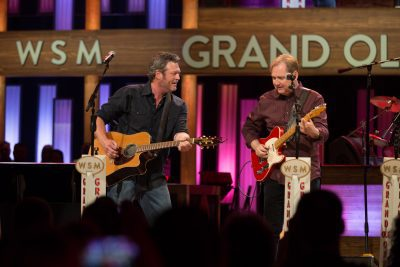 Blake Shelton and Steve Wariner at the Grand Ole Opry on Country Music On Tour!