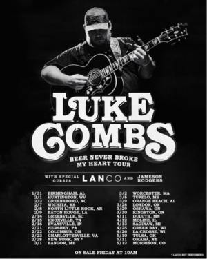 Luke Combs 2019 Tour