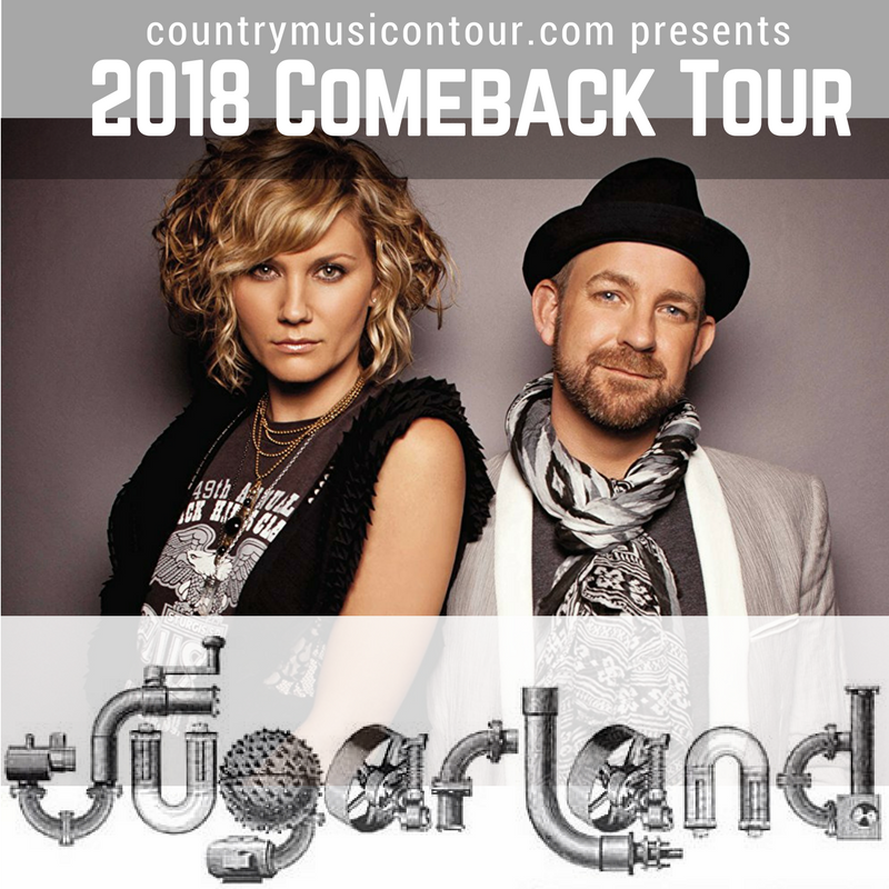 Sugarland 2018 Tour Dates from Country Music On Tour